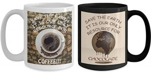 Save the Earth for love of Coffee & Chocolate Mug