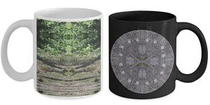 Squirrels and Pasque Flower Mandala Mugs